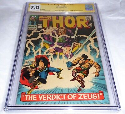 Thor #129 CGC SS Signature Autograph STAN LEE 1st Appearance of Ares Zeua Plluto