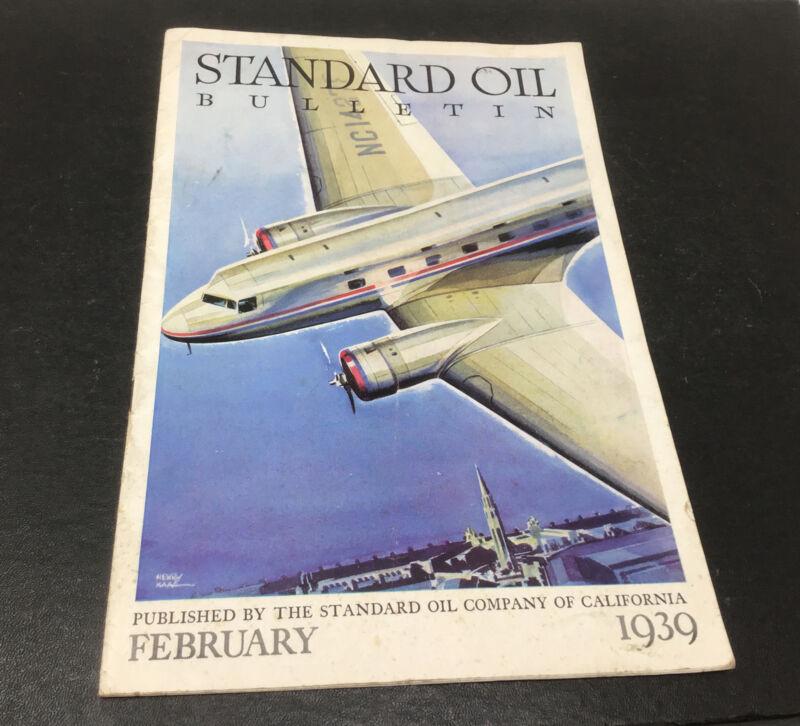 Standard Oil Bulletin Feb 1939 Henry Maas Navajo Air Highway Patrol Chevron