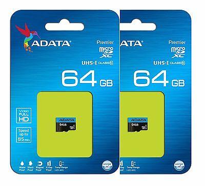 ADATA 64GB MICRO SD HC SDHC MEMORY CARD CLASS 10 FOR GOPRO HD HERO 3