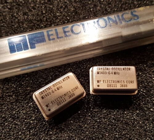 MF ELECTRONICS M1400-64MHz  64 MHz Crystal Oscillator Full-Size DIP NEW Qty.2