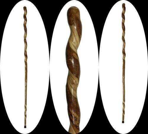 "68"" Natural Vine Twisted Ash Walking Stick Cane Wood Staff Trekking Pole Hiking"