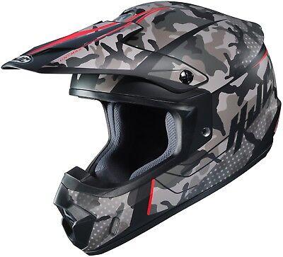 Camo Large Helmet (HJC CS-MX2 Motocross Helmet Sapir Gray Camo w/ Red L Large ATV CSMX CS-MX II )