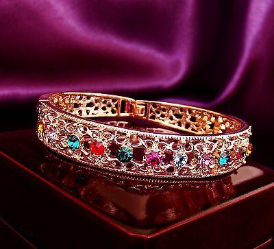 18K Rose GP Genuine Swarovski crystal bangle