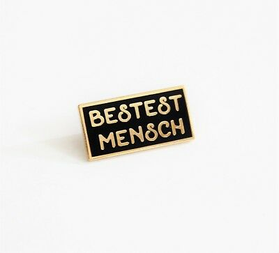 Bestest Mensch black gold Hard Enamel Lapel Pin 1