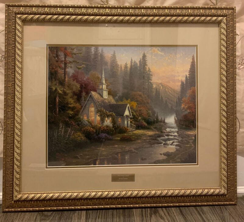 RARE Home Interior Thomas Kinkade Picture Frame 30 x 26""