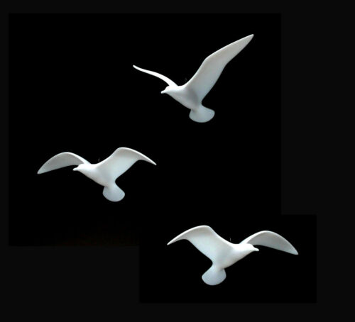 3 SEAGULL MOBILE by JOHN PERRY 9in wingspan each New direct from the studio