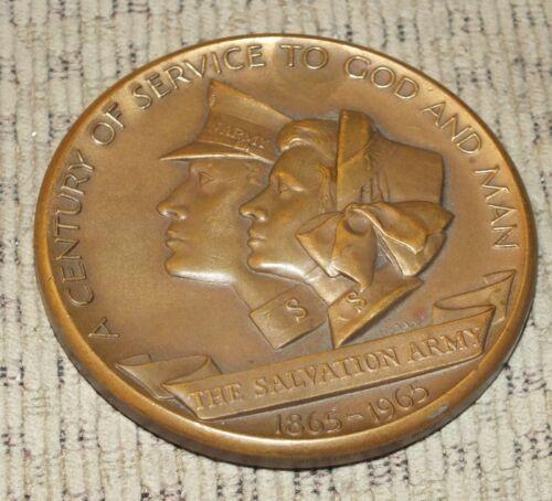 Salvation Army 100th Anniversary 1865-1965 Commemorative Coin Bronze