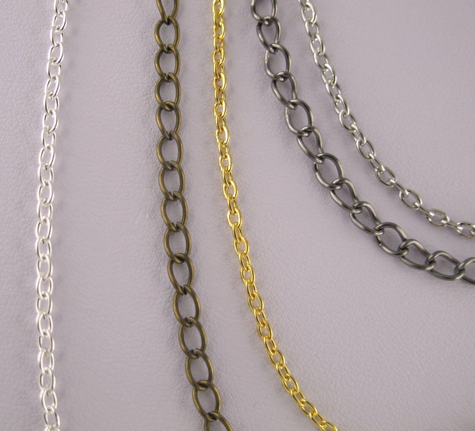 Gliederkette silber stahl rose gold anthrazit bronze Meterware oder m Verschluss
