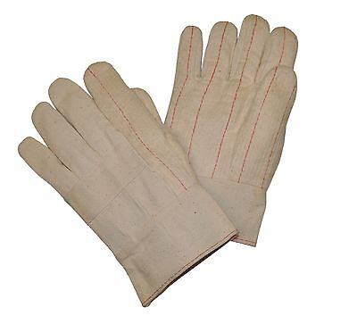 G F Cotton Canvas Hot Mill Glove Band Top Double Palm Large 120-pairs