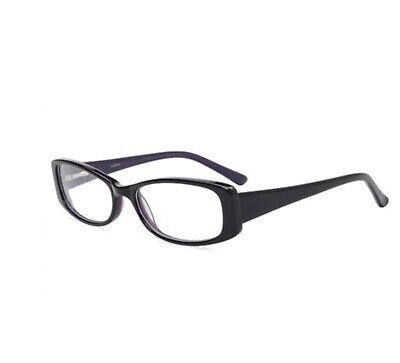 Contour Womens Prescription Glasses, FM11516 Black/Purple (Purple Prescription Glasses)
