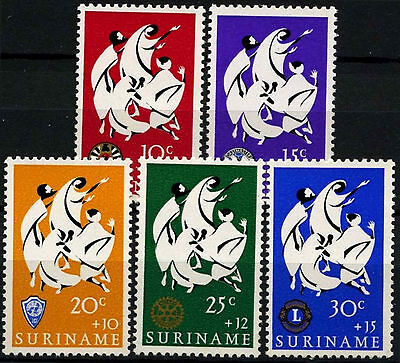 Suriname 1966 SG#589-593 Easter Charity MNH Set #D34409