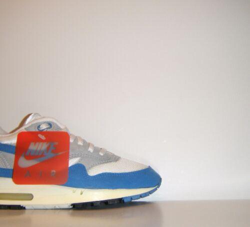 Og Vtg Nos 1987 Nike Air Max 1 White Blue Sz. 6.5 Atmos Patta Powerwall Waffle