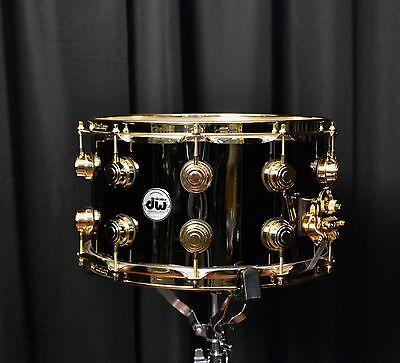 Dw Drums Drum Workshop 8x 14 Collectors Snare Black Nickel Over Brass W/ Gold