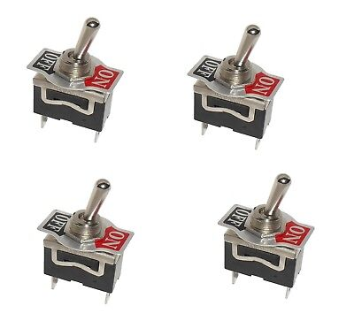 4 Spst Onoff Toggle Switches With 0.25 Terminals 15amp 12 Mount