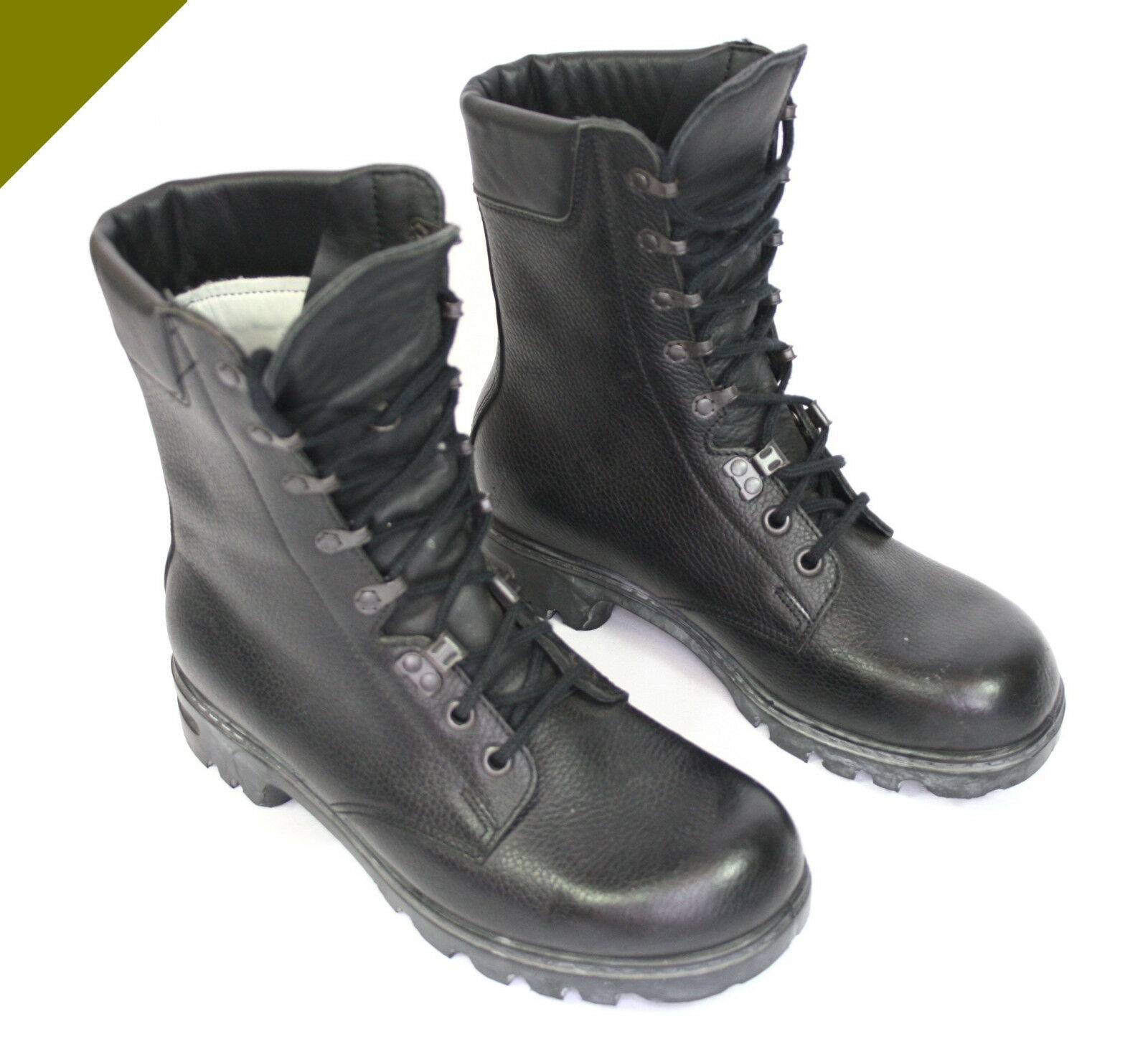 Provided Original Bw Kampfstiefel Stiefel Leder Bundeswehr Schuhe Kampfschuhe Tropen Oliv Keep You Fit All The Time Militaria