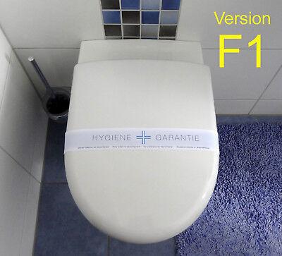 500 farbige WC-Banderolen Desinfektionshinweis Hygiene Garantie Toiletten F1