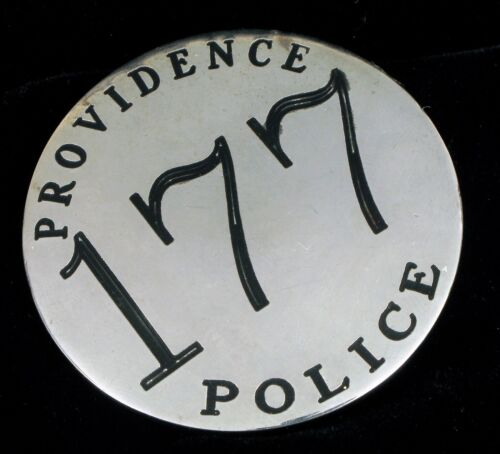 ANTIQUE OBSOLETE PROVIDENCE POLICE DEPARTMENT RHODE ISLAND RI LARGE SILVER BADGE