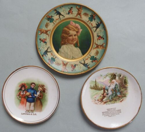 3 EARLY ADVERTISING TRAYS GREAT GRAPHICS
