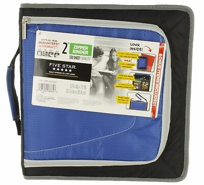 Five Star 2 Zipper Binder 3 Ring Binder With Bonuses