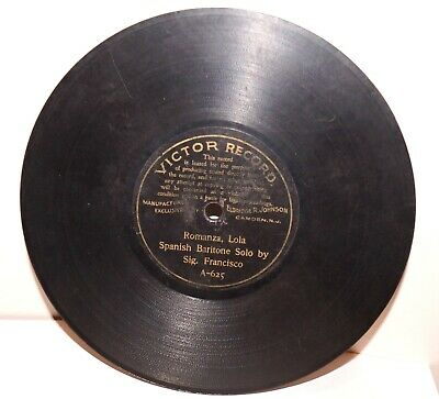 """RARE Antique 7"""" 1st VICTOR RECORD A-496 Phonograph Gramophone 1901"""