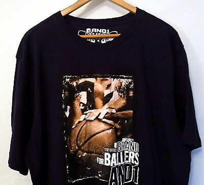 - AND 1 MENS TEE BLACK SIZE EX-LARGE T-SHIRT FOR BALLERS 24.5