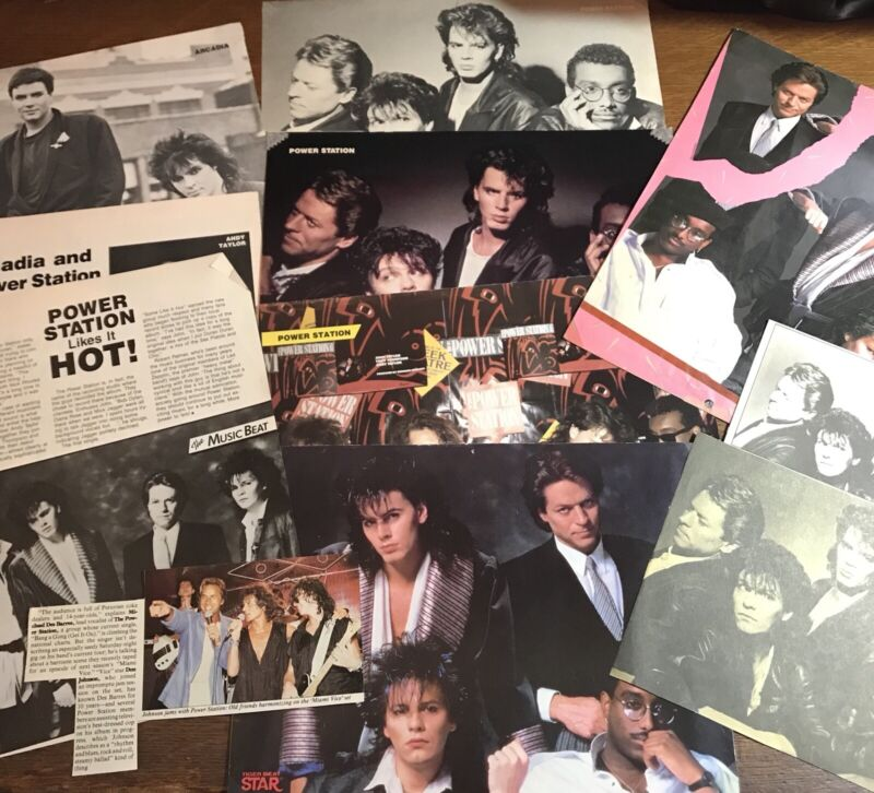 Power Station & Arcadia Magazine Pinup & Clippings Lot 1980s Duran Duran