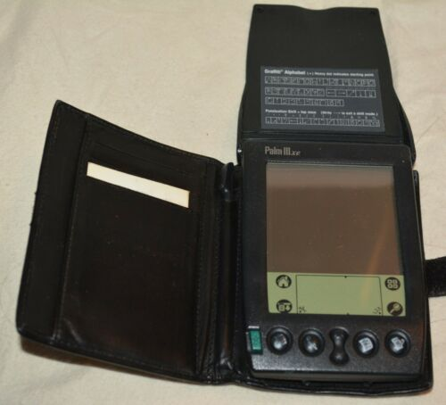 Vintage Palm Pilot III  3 xe LCD Organizer Digital PDA with stylus