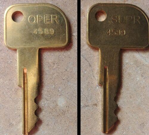 NCR 4589 Supervisor SUPR or Operator OPER Cash Drawer Key 2171-K006 2171-K007