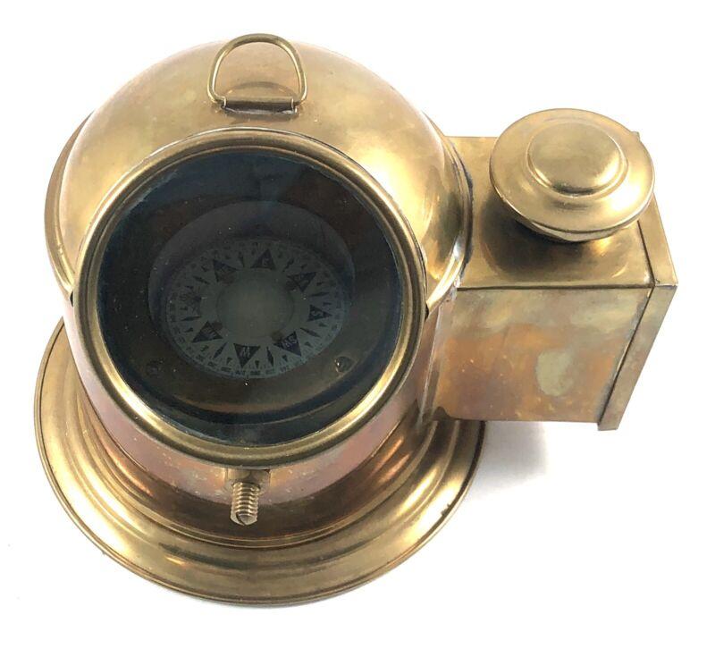 Ship Binnacle Compass with Oil Lamp