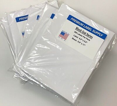 1000 Blockout 8.5 X 5.5 Half Sheet Shipping Labels Cover Mistakes Underneath