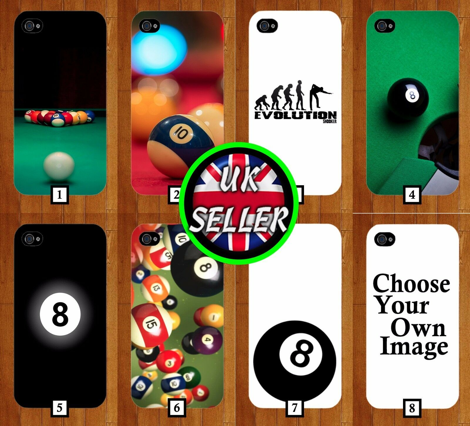 Snooker Phone Case Cover Pool 8 Balls Ball iPhone 6 Galaxy s7 s8 iphone 7 s6 215