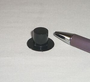 Miniature Dollhouse Fairy Garden TOP HAT Black Plastic Magician Doll Craft