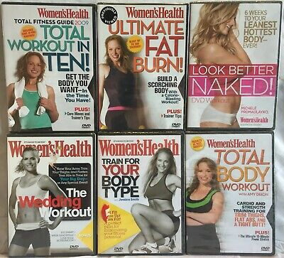 NEW 6 Women's Health workout DVD lot Train for your Body Type Look Better