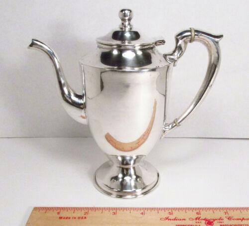 Vintage 1950s JLR Juventino Lopez Reyes Mexico Sterling Silver Tea Coffee Pot