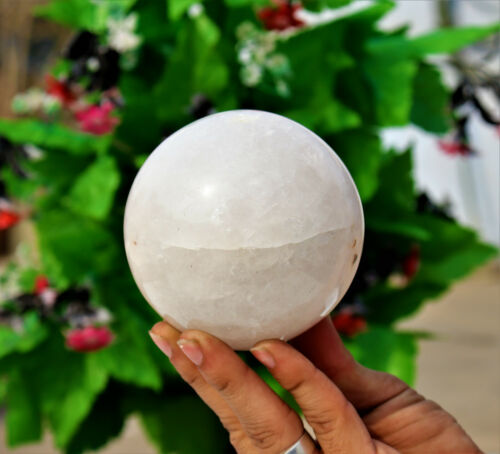Large 90MM Chakra Stone Aura Healing Power White Aventurine Stone Sphere Ball