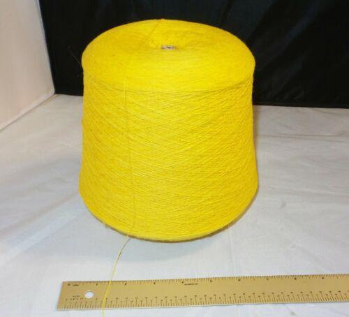 1lb 15oz Acrylic Machine Knitting Cone / Spool - MUSTARD YELLOW - Thin Yarn
