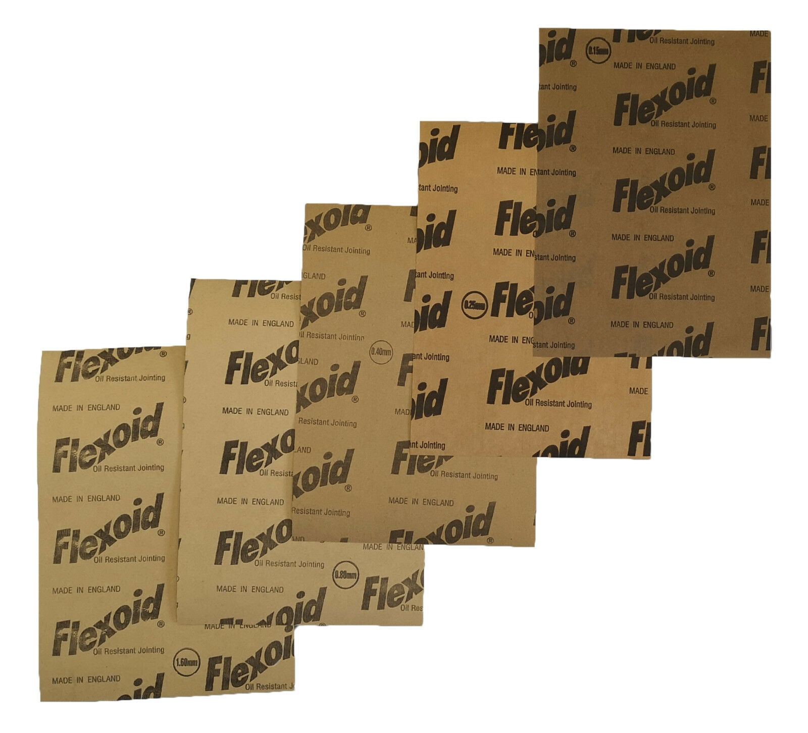 Car Parts - GASKET PAPER MATERIAL - OIL & WATER RESISTANT, FLEXOID BRAND - 5 X A4 SHEETS