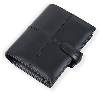 New Filofax Classic Italian Leather Pocket Organiser In Black See Details