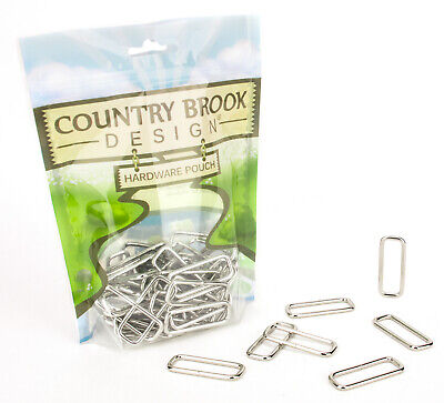 50 - Country Brook Design 1 1/2 Inch Lite Welded Rectangle Rings - $8.95