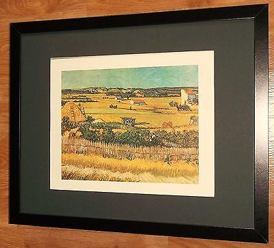 The Harvest by Van Gogh, vintage van gogh wall art print , 20''x16'' frame