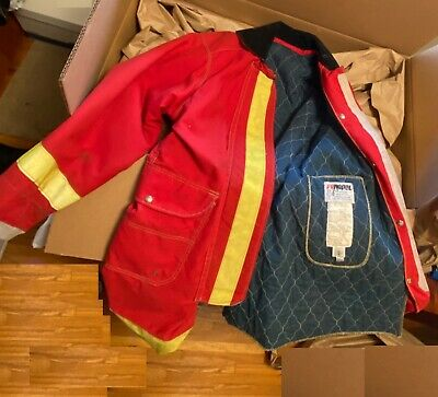 Firefighter Turnout Bunker Gear Fyrepel Jacket Pants Hood Mfr 1988-2003
