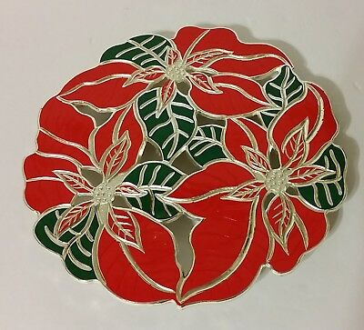 Collection Poinsettia - Wm. A. Rogers Holiday Collection Poinsettia Trivet