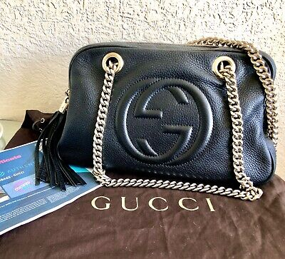 Gucci Soho Double Chain Bag, Rare + Certificate Of Authenticity 👜