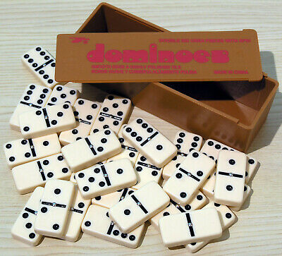 Dominoes - 00121 Double Six Plastic Spot Dice with Spinners