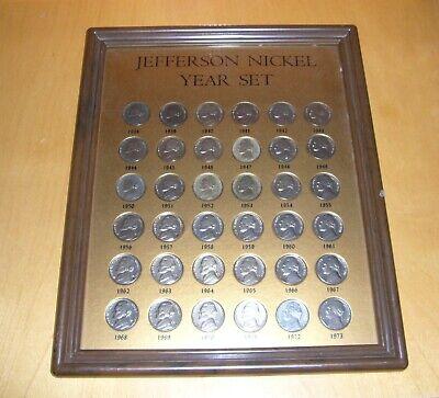 Nickel Set (Jefferson Nickel Year Set, 1938 - 1973, 36 Münzen )