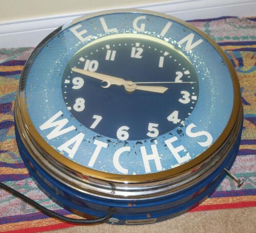 "Elgin Watches Glo Dial 22"" NEON CLOCK"