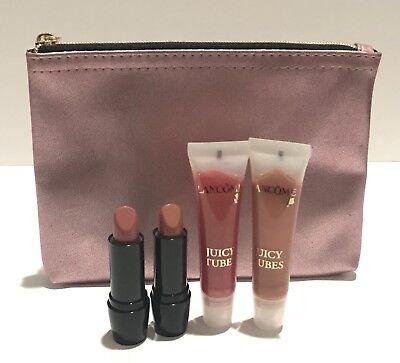 Juicy Tubes Gloss Set - Lancome Color Design Lipcolor & Juicy Tubes With Makeup Case New