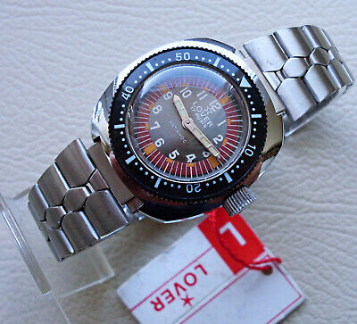 Orologio LOVER DIVER N.O.S. condition vintage 1970 LADY NEW OLD STOCK WATCH