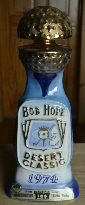 1974 Jim Beam Bob Hope Desert Classic 15th Annual Golf Decanter