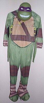 boys medium DONATELLO NINJA TURTLE HALLOWEEN COSTUME MASK JUMPSUIT super clean @](Donatello Ninja Turtle Halloween Costume)